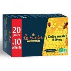 Gelée royale Bio 1500 mg 20 ampoules + 10 offertes