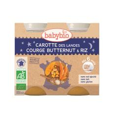 Petit pot Carotte des Landes, Courge Butternut & Riz