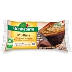 Muffins Pépites de Chocolat Amandes Caramélisées