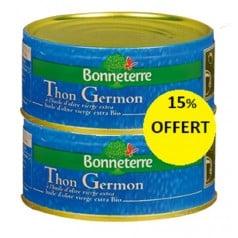 Lot 2x Thon Germon à l'Huile d'Olive Vierge Extra Bio