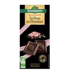 Chocolat Dégustation Noir Sel Rose de L'Himalaya