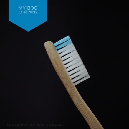 Brosse Bambou Adulte Souple Bleu