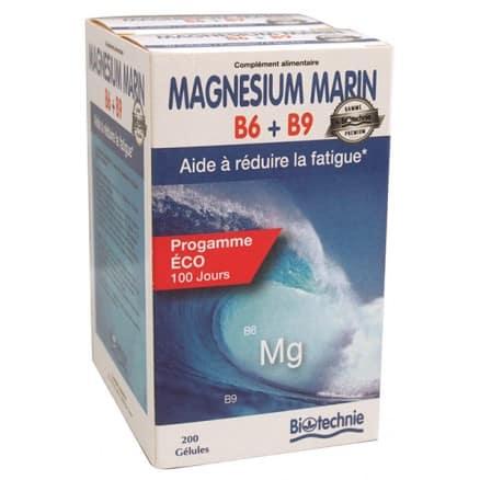 Magnésium marin B6 B9 Calcium marin Eco 100 jours