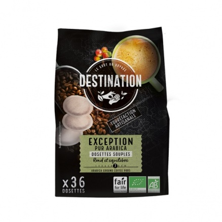 Destination 36 Dosettes souple café 100% Arabica