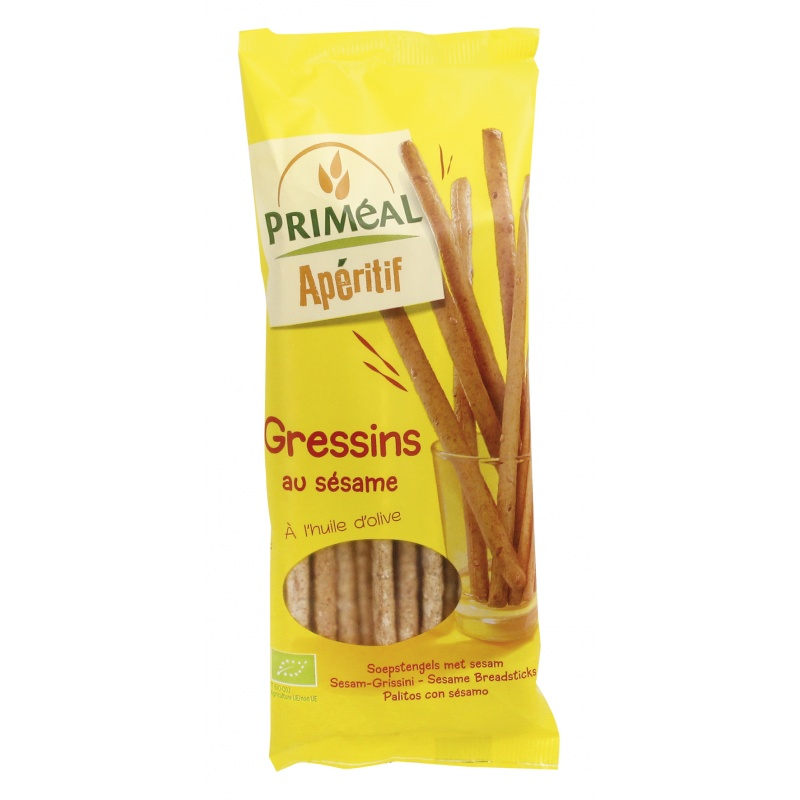 primeal  Priméal Gressins au Sésame 120 g Les gressins au sésame se consomment... par LeGuide.com Publicité