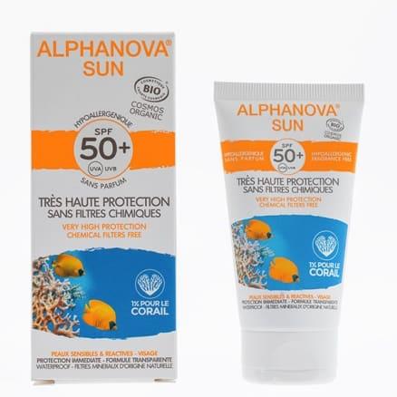 Crème solaire SPF50 Hypoallergénique