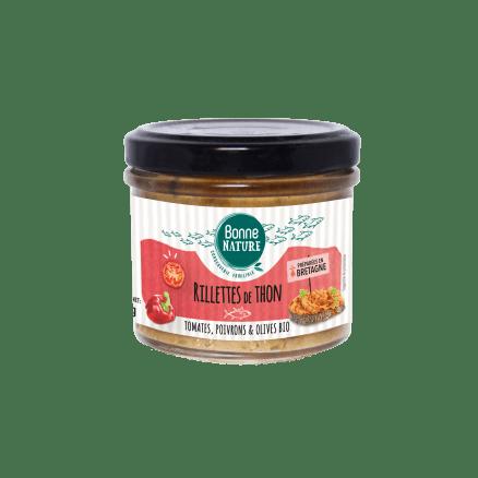 Rillettes de Thon Tomates, Poivrons & Olives Bio