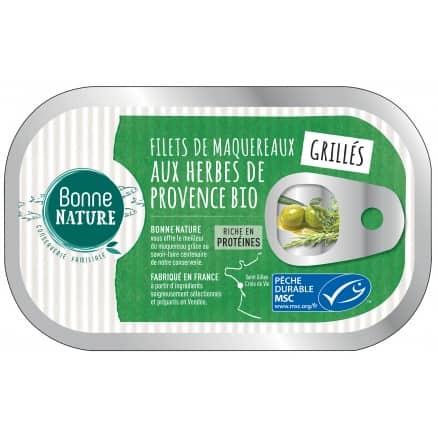 Filets de Maquereaux aux Herbes de Provence Bio