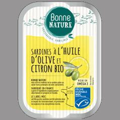 Sardines à l'Huile d'Olive et Citron Bio