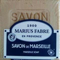 Savon de Marseille Blanc 400G pour le Linge Sans Huile de Palme