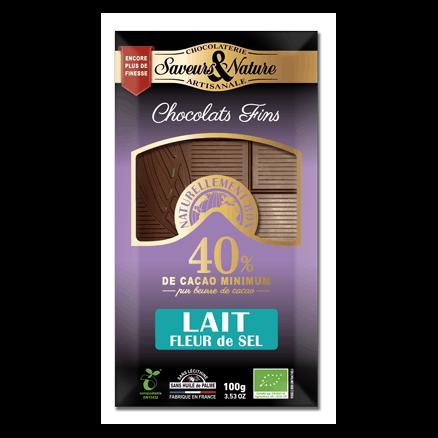 Chocolat 40% Cacao Lait Fleur de Sel