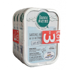 Lot de 3 x Sardines au Naturel au Jus de Citron