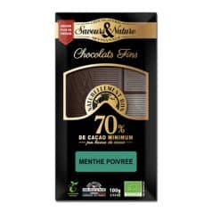 Chocolat Noir 70% Menthe Poivrée