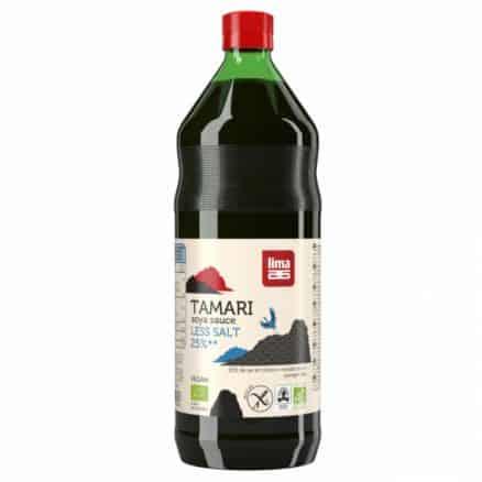 Sauce soja Tamari 25% de sel en moins