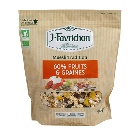 Muesli 60% Fruits & Graines