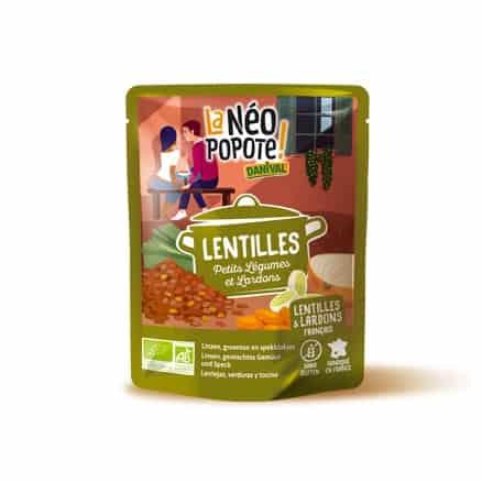 Lentilles Petits Légumes et Lardons