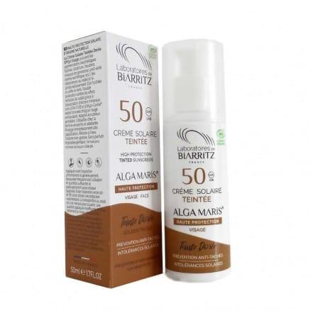 Crème Solaire Teintée Dorée SPF 50