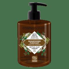 Shampooing Purifiant Cheveux Gras Argile Achilée Ortie
