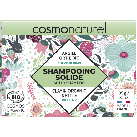 Shampooing Solide Cheveux Gras Argile Ortie