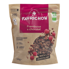 Muesli Croustillant Framboise & Chocolat