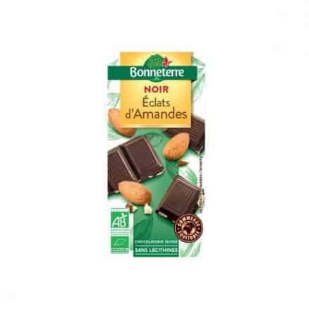 Chocolat noir bio éclats d'amandes de Bonneterre