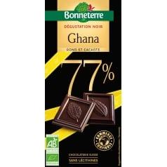 Chocolat Dégustation Noir Ghana 77%