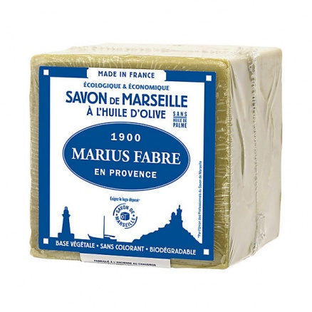 Savon de Marseille à l'Huile d'Olive 400g Sans Huile de Palme