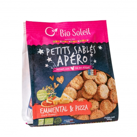 Petits Sablés Apéro Emmental & Pizza