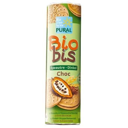 Biobis Biscuits Epeautre Fourrés Choc