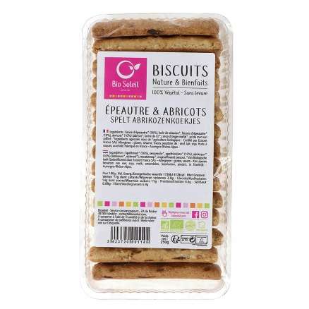 Biscuits Epeautre Abricot