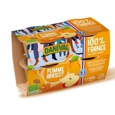 Purée 100% Fruit Pomme Abricot Danival