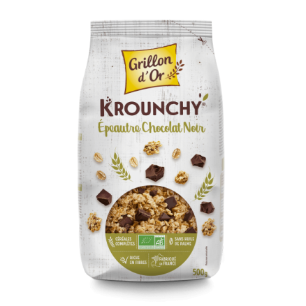 Krounchy Epeautre Chocolat Noir