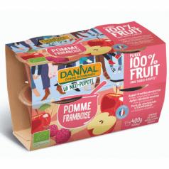 Purée 100% Fruit Pomme Framboise