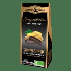 Gingembrettes Confites Chocolat Noir