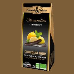 Citronettes Confites Chocolat Noir