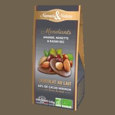 Mendiants Fruits Secs Chocolat au Lait