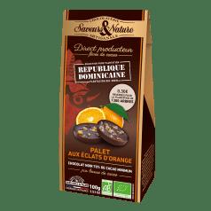 Ballotin de Palets de Chocolat Noir aux Eclats d'Orange