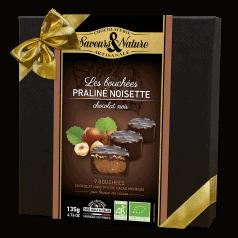 Coffret Mini Rochers Praliné Noisette Enrobés Chocolat Noir