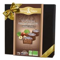 Coffret Mini Rochers Pralinés Noisette Enrobés Chocolat Lait