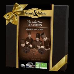 """Coffret """"La Sélection des Chefs"""" Bonbons Chocolat Noir et Lait"""