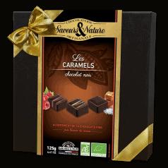 Coffret Assortiment Chocolats Noirs Fourrés au Caramels