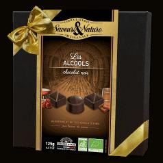 Coffret Bonbons Chocolat Noir aux Alcools
