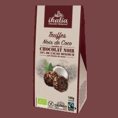 Truffes à la Noix de Coco Enrobées de Chocolat Noir