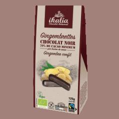 Gingembrettes Enrobées de Chocolat Noir Végan