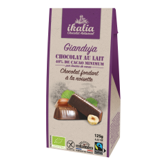 Gianduja Chocolat Fondant Noisette Enrobé Chocolat Lait